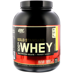 【Optimum Nutrition】ゴールドスタンダード 100%ホエイ、バナナクリーム:プロテイン紹介