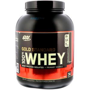 【Optimum Nutrition】ゴールドスタンダード 100%ホエイ、ダブルリッチチョコレート:プロテイン紹介