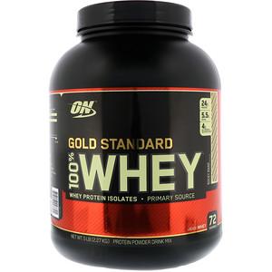 【Optimum Nutrition】ゴールドスタンダード 100%ホエイ、ロッキーロード:プロテイン紹介