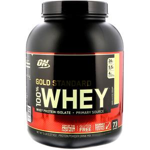 【Optimum Nutrition】ゴールドスタンダード 100%ホエイ、ホワイトチョコレート:プロテイン紹介